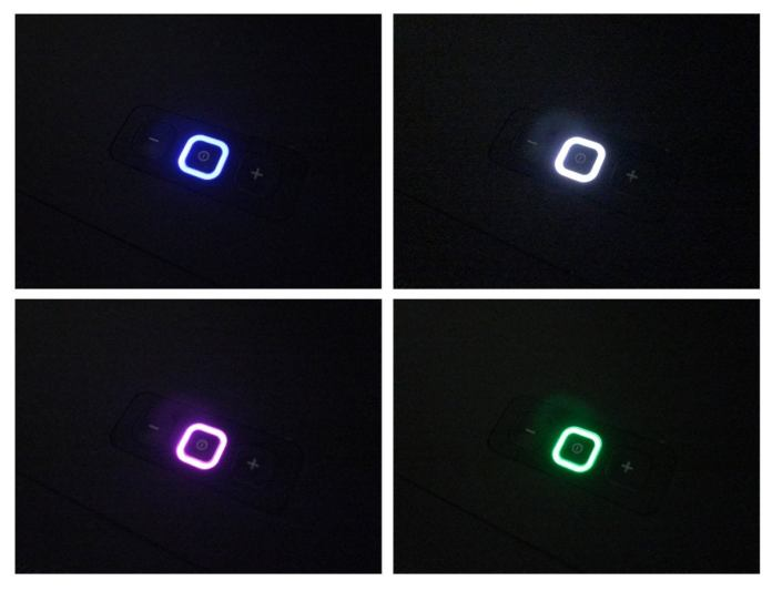 The QM2's standby button changes color to show you which input is selected.
