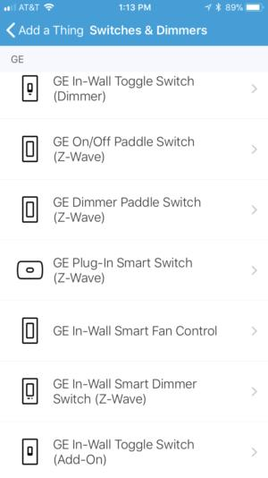 GE smart lighting