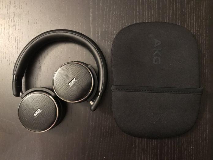 Many on-ear models fold inward, like these AKG N60 NC, or fold flat for portability.