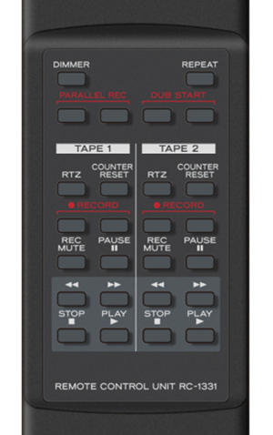tascam 202mkvii remote 100765922 medium - TASCAM 202MKVII dual cassette deck review: A high-quality, but pricey, tool for digitizing your tape collection