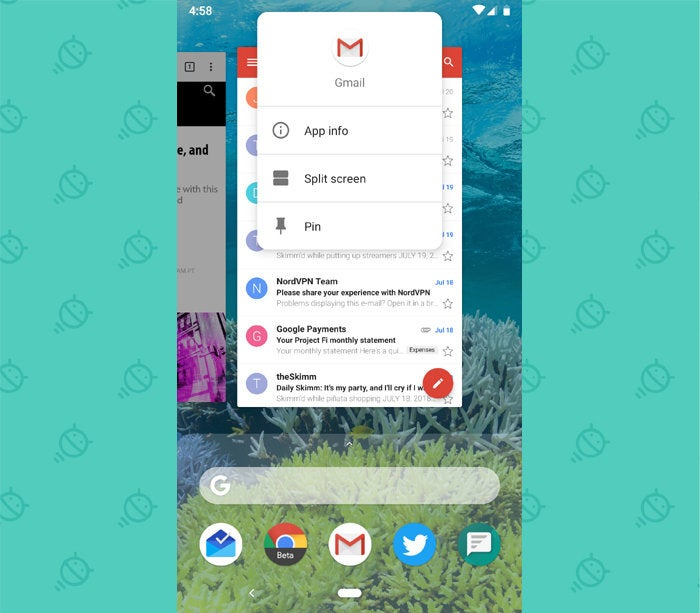 Android 9 Pie - App Pinning, Split Screen