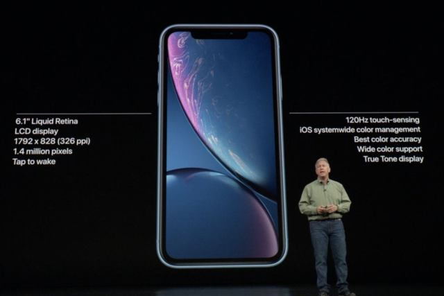 apple event iphone xr display