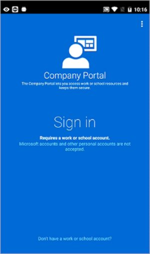 intune enrollment ui for android devices