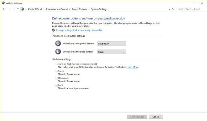 Cài đặt hệ thống Windows 10 khởi động nhanh