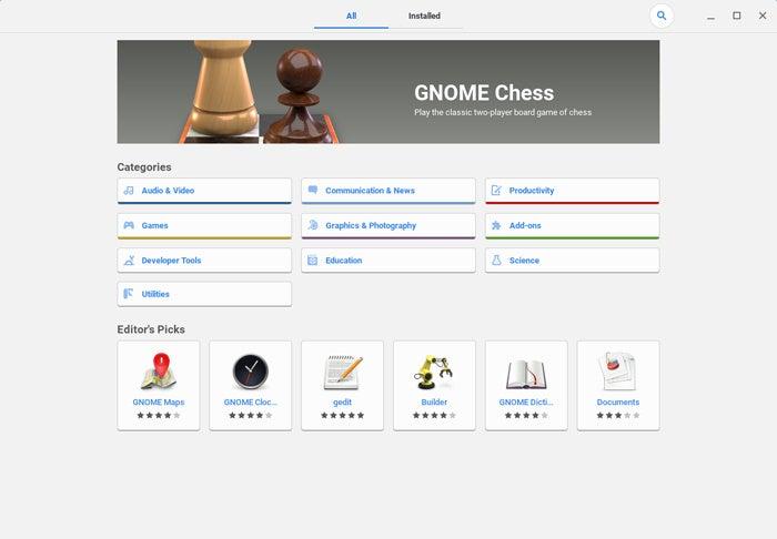 linux apps chrome os software center