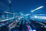smart city iot digital transformation networking wireless city scape skyline