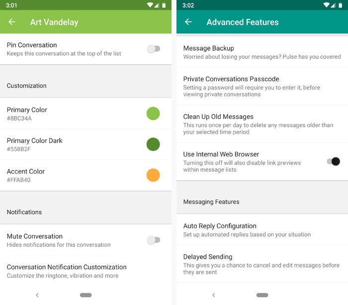 best android texting apps pulse