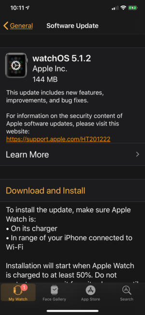watchos512 update
