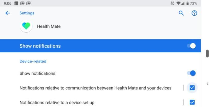 Android notification channels