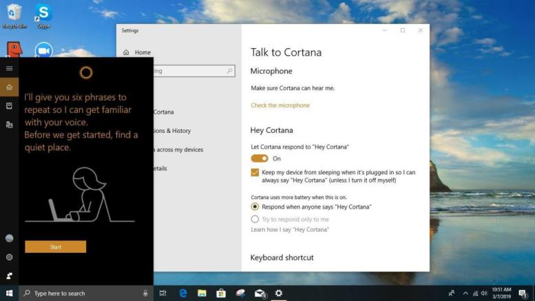 win10 cortana only me