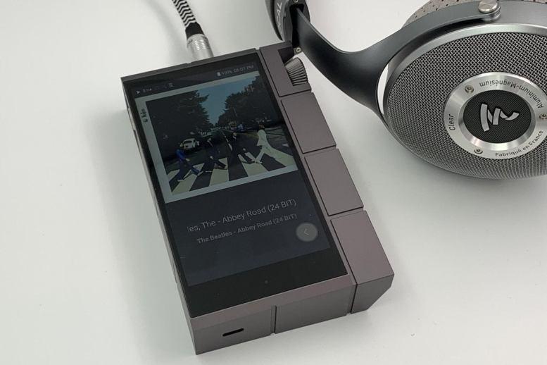 Astell&Kern Kann Cube and Focal Clear headphones.