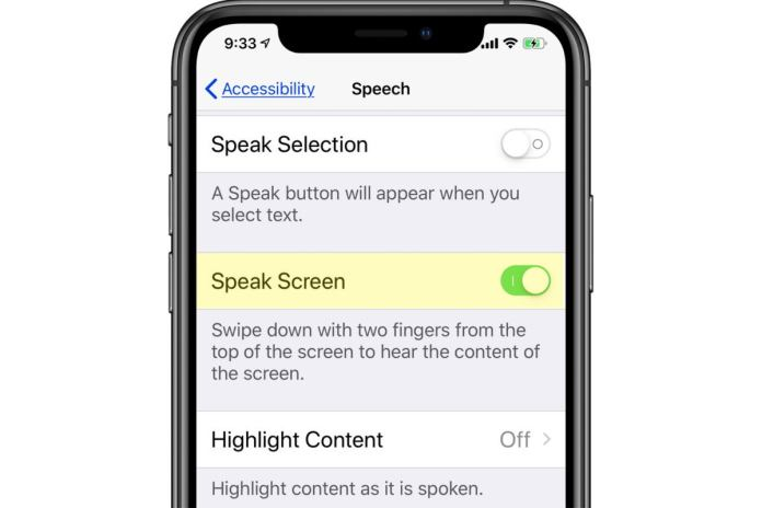 How to make your iPhone read to you by using Speak Screen ...