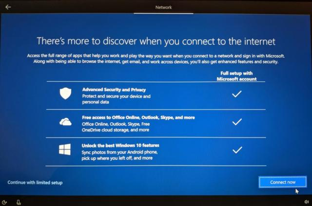 Windows 10 May 2019 Update OOBE nag screen