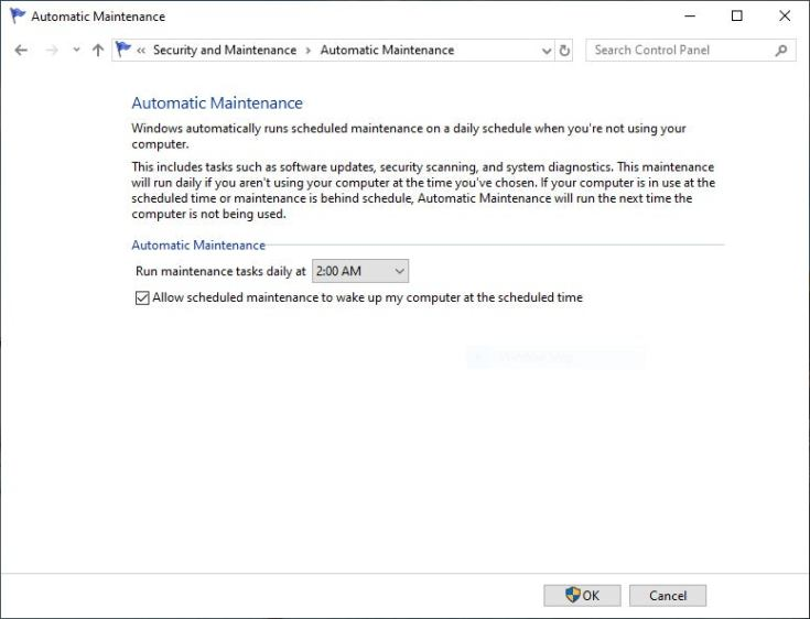 win10 automatic maintenance aug2019