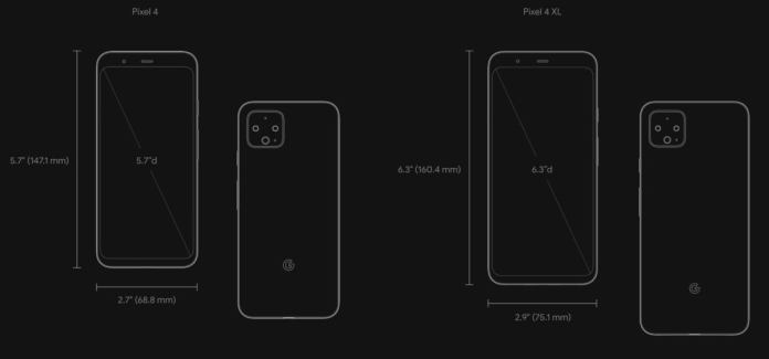 Image result for pixel 4 and pixel 4 xl