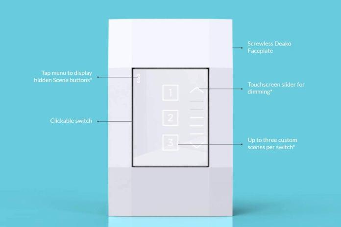 deako smart dimmer labeled