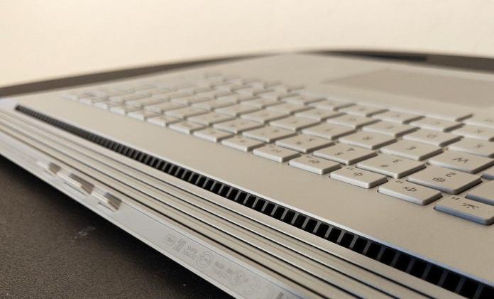 Microsoft Surface Book 3 base vents