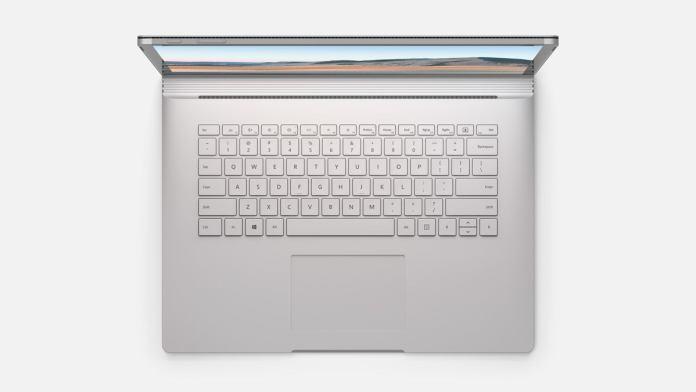Microsoft surface book 3 top keyboard