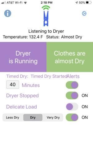 SmartDry app