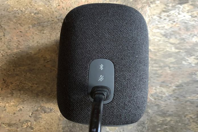 jbl link music mute button on back