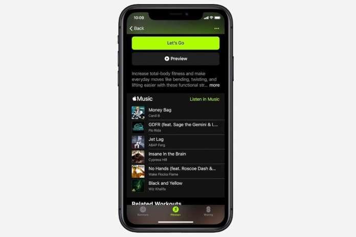apple fitness music playlist