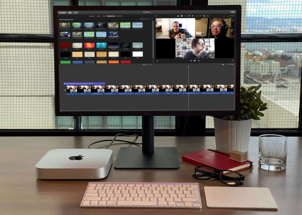 m1 mac mini écran imovie