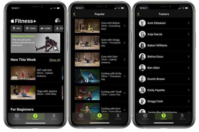 apple fitness iphone