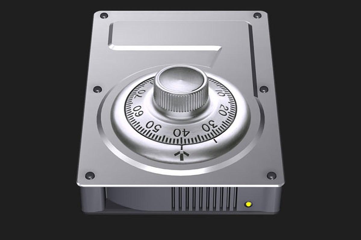 encryption bad hard drive icon