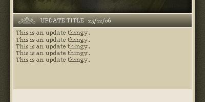 Updates Text Added - Photoshop Tutorial