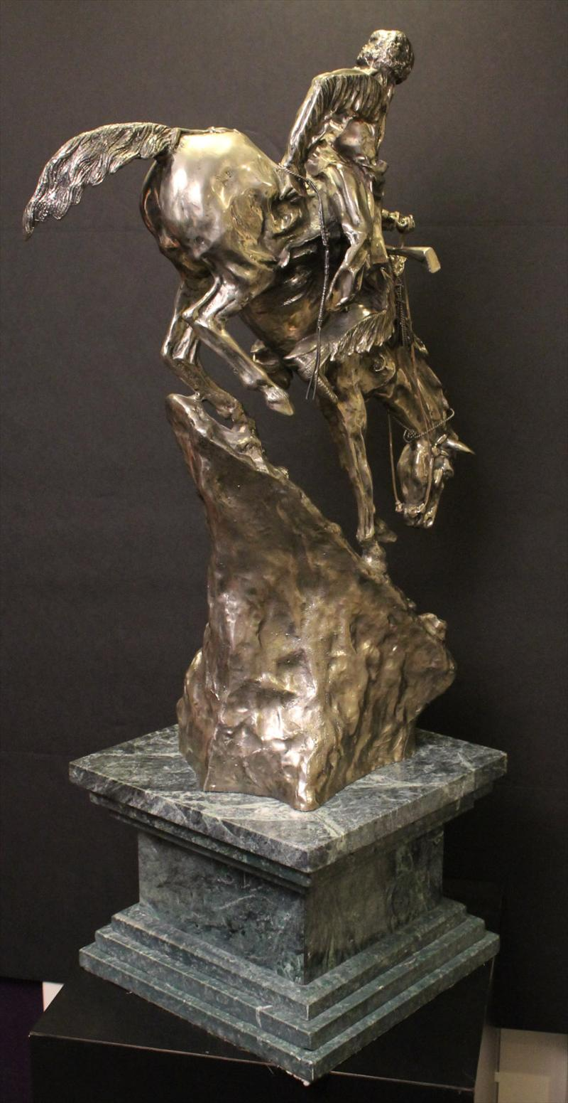 IGavel Auctions Cast 999 Silver Sculpture Mountain Man