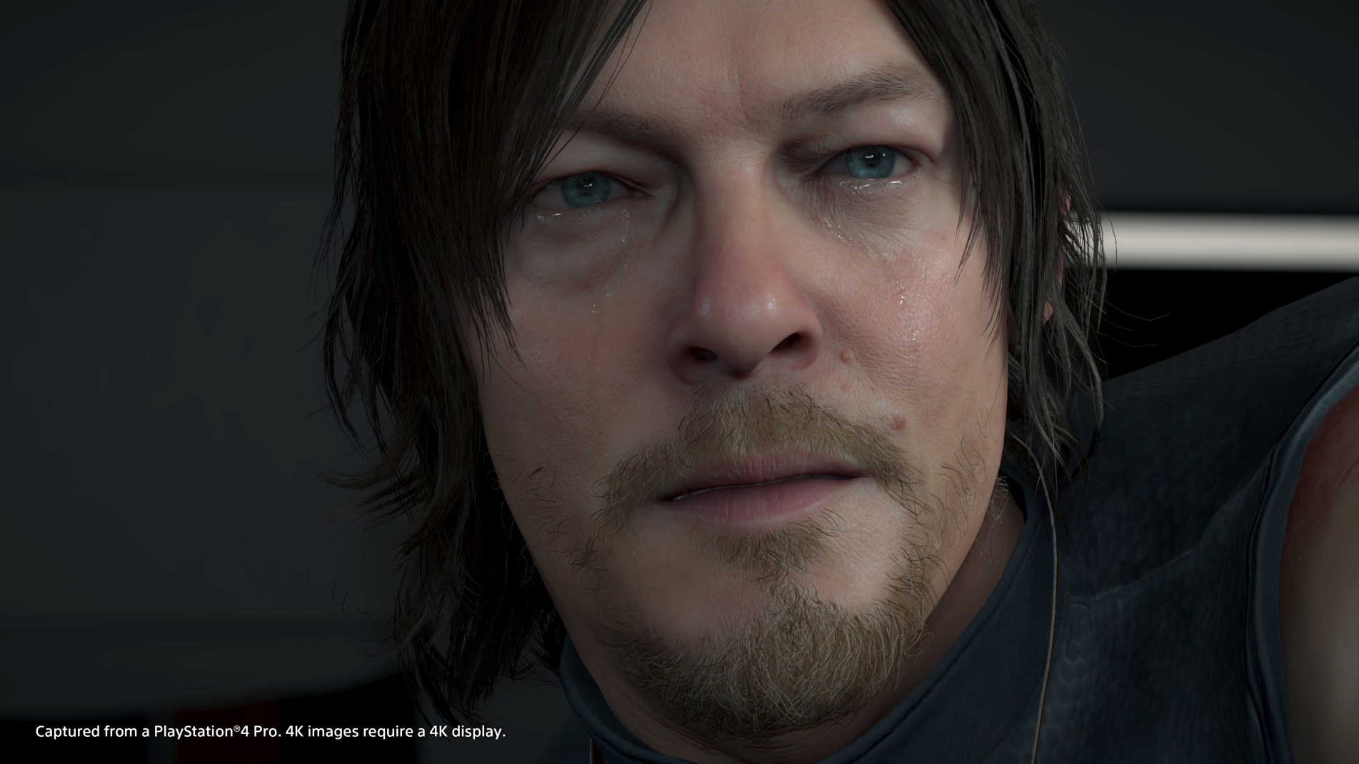 A close up Sam (Norman Redus) shows the visual quality of the game.