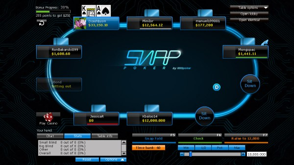 Reduce waiting time with SNAP fast-fold poker!