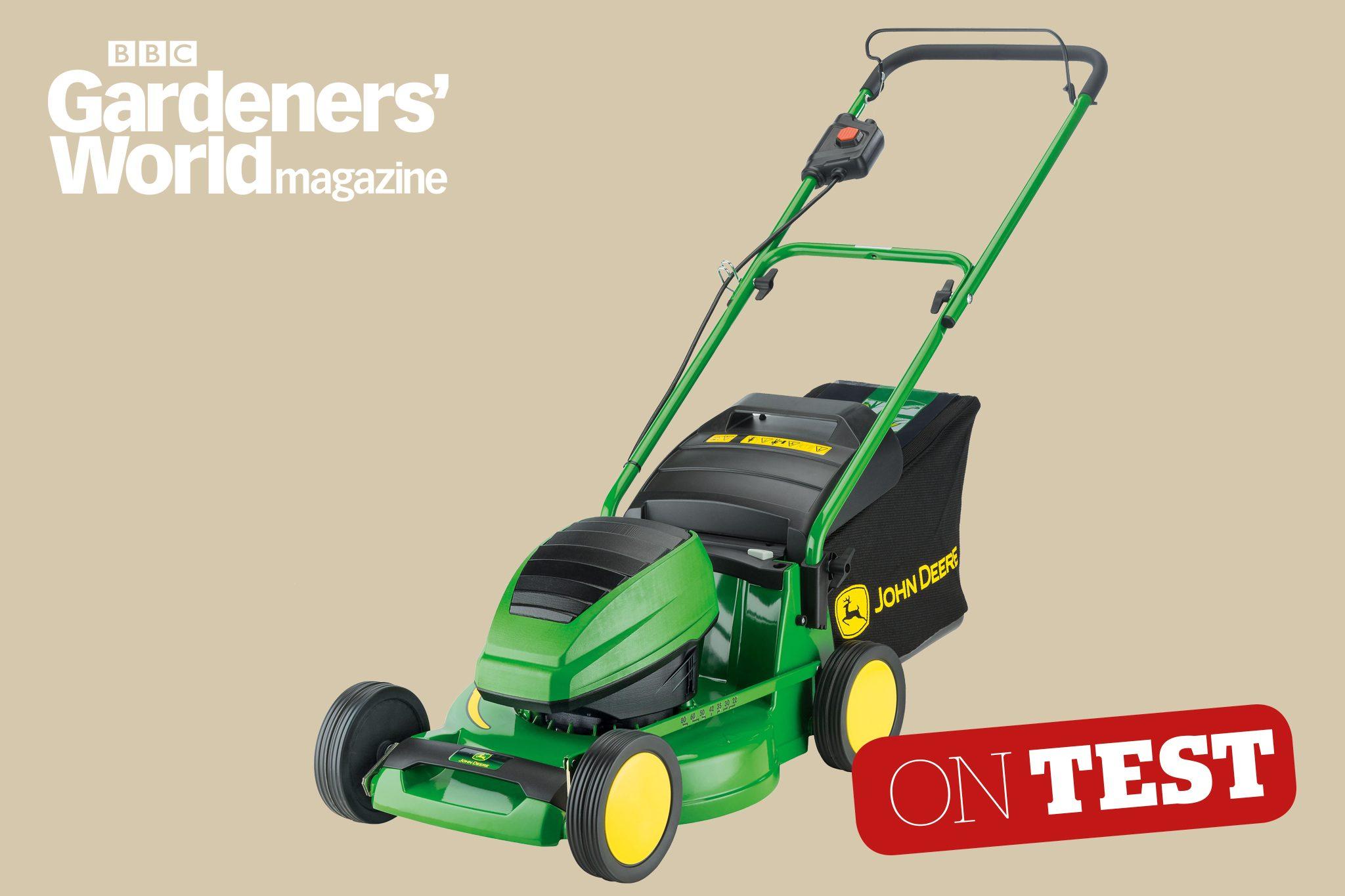John Deere R43b Cordless Mower Review Cordless Mowers Lawn Mowers Bbc Gardeners World Magazine