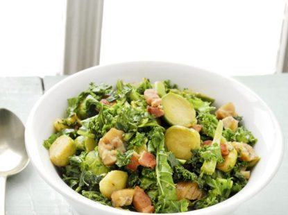Brussels Sprouts with Kale and Bacon Recipe - olivemagazine