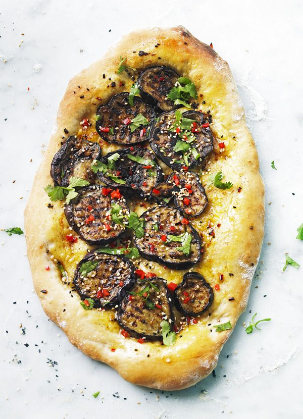 Turkish Pide Recipe for Aubergine Pide