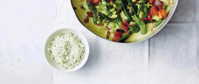 Vegan Thai Green Curry with Butternut Squash