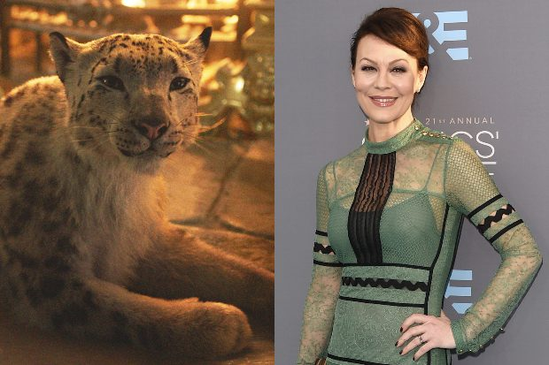 Helen McCrory and a fictional snow leopard