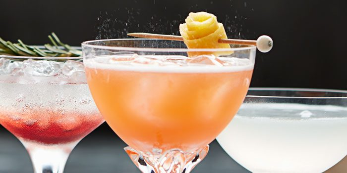 Spritz in glass with garnish