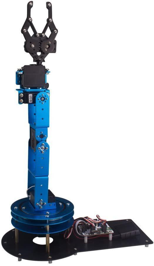 Blue robotic arm