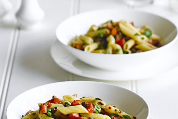 Penne with Chopped Puttanesca Sauce Recipe
