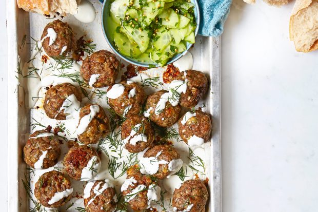 One Pot Swedish Meatballs Recipe With Cucumber Salad