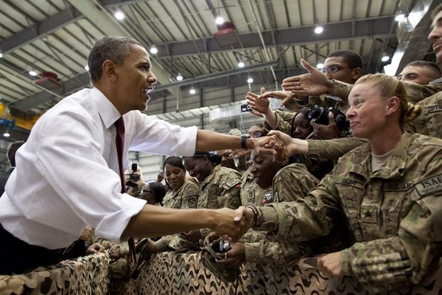 The Final YearPresident Barack Obama greets U.S. troops following his remarks at Bagram Air Field, Afghanistan, May 1, 2012. (Official White House Photo by Pete Souza, © 2017 Home Box Office, Inc.)