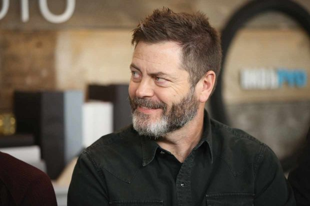Nick Offerman plays the Ambassador of the United States