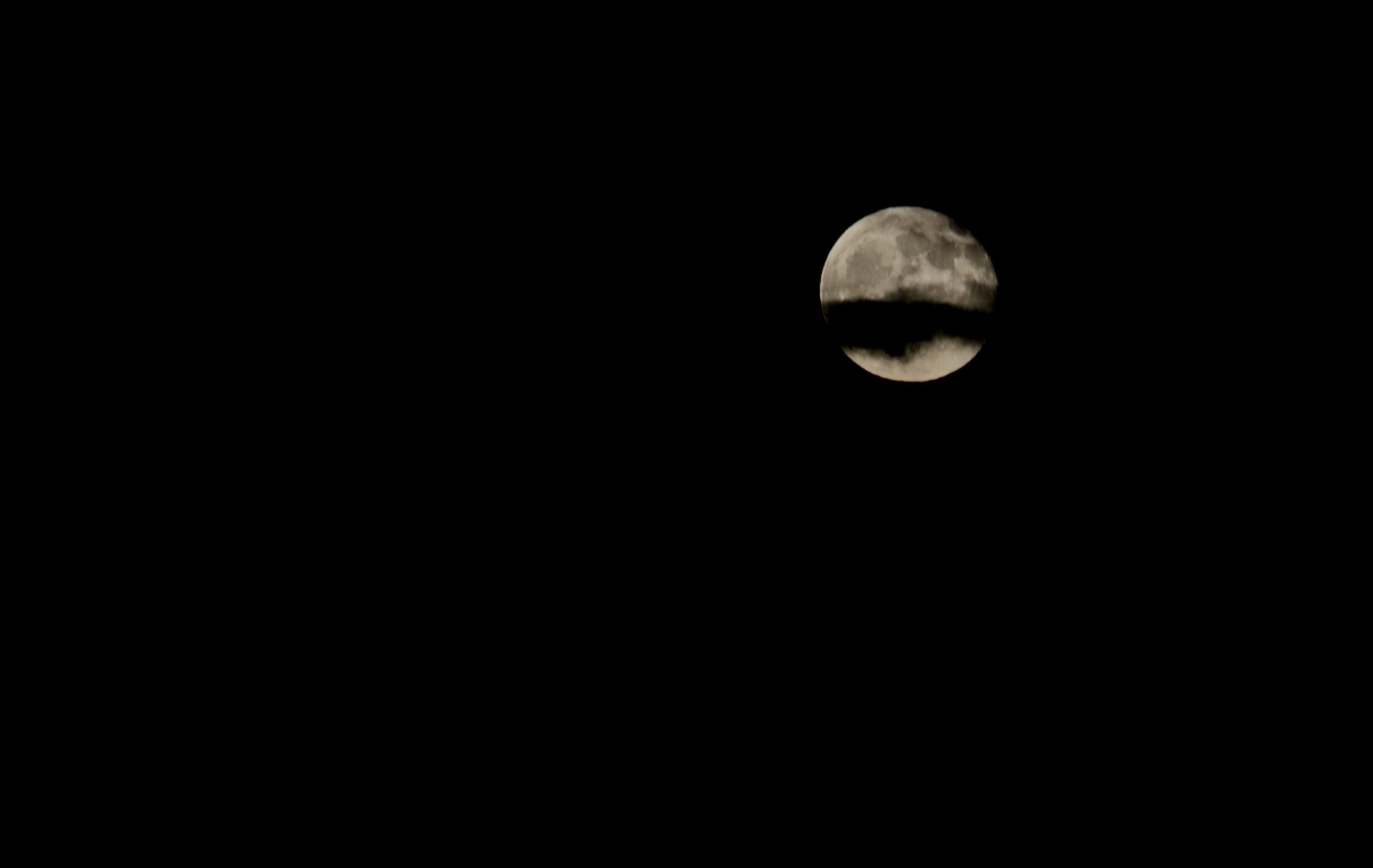 Nuage dans la lune
