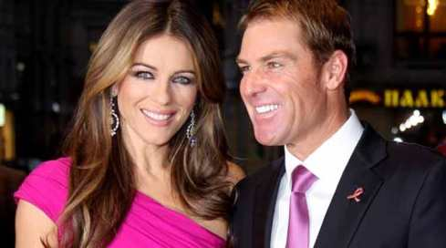 Image result for liz hurley and warne