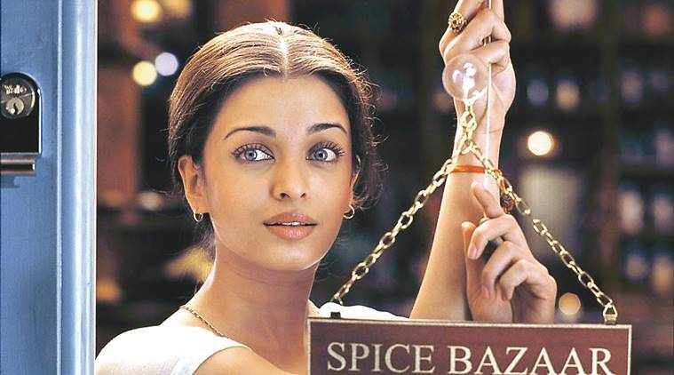 Film star Aishwarya Rai in film THE MISTRESS OF THE SPICES. PH Photo
