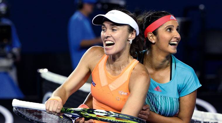 Image result for hingis and mirza australian open 2016