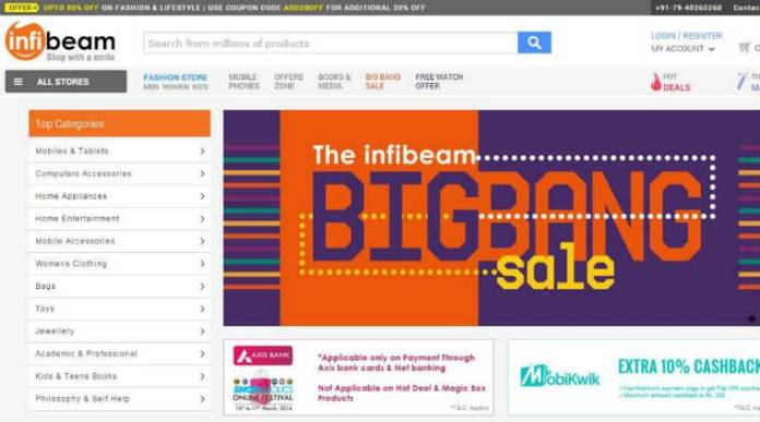 infibeam online shopping site
