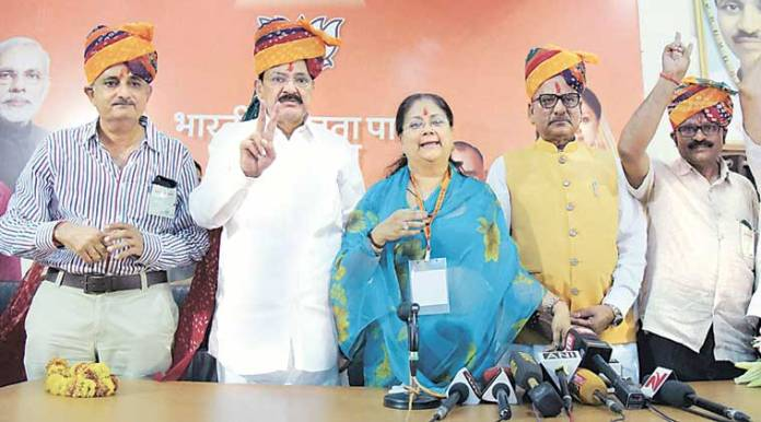 Rajya Sabha, rajya sabha polls, Rajasthan Rajya Sabha results, venkaiah naidu, Harsh Vardhan Rajasthan, Venkiah Naidu Rajasthan, RS polls Rajasthan, BJP in Rajasthan RS, RS polls 2016, election news, rajasthan news, india news