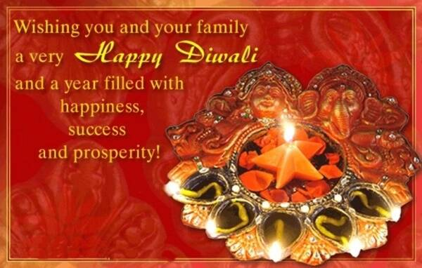 We wish you a Diwali of love, togetherness and happiness. (Source: 123greetings.com)